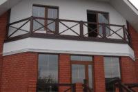 Ограждения открытого балкона.