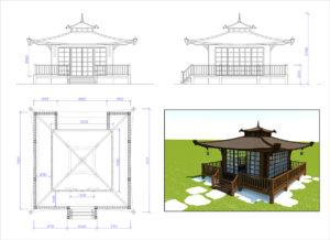 Проект японского чайного домика.